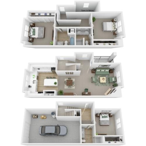 Floor Plan Images | North Bend Apartments Washington | Arrive North Bend