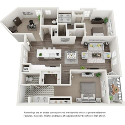 Floor Plan Images   Arrive Los Carneros Apartments For Rent Goleta CA 93117