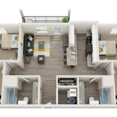 Floor Plan Images   The Social 1600 Apartment Homes for Rent in Tallahassee FL 32303