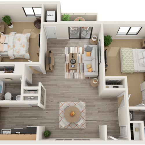 Floor Plan Image | Alexandria VA Apartments | Arrive Alexandria