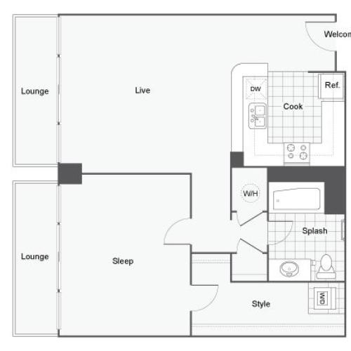 Floor Plan Image | Student Apartments Atlanta | Dwell ATL