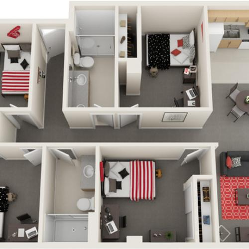 Floor Plan Image | The Icon St Louis MO 63103