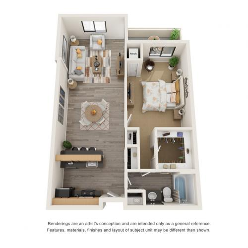 Floor Plan 1 | Alexandria VA Apartments | Arrive Alexandria