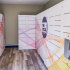 Package lockers with colorful design