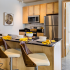 Kitchen with barstool seating