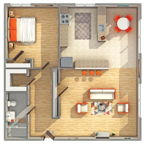 Floor Plan Layout   Cambridge Manor Apartment Homes for Rent in Milwaukee WI 53202