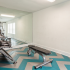 Fitness center weight area