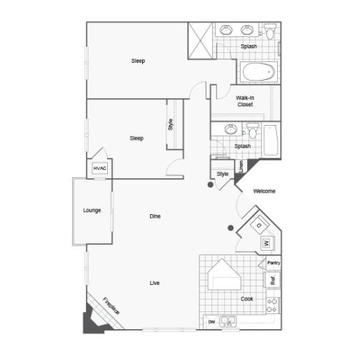 Floor Plan Image | Arrive St Louis Park