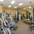 Fitness Center with cardio and weight machines and free weights