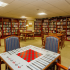 Library with tables and chairs