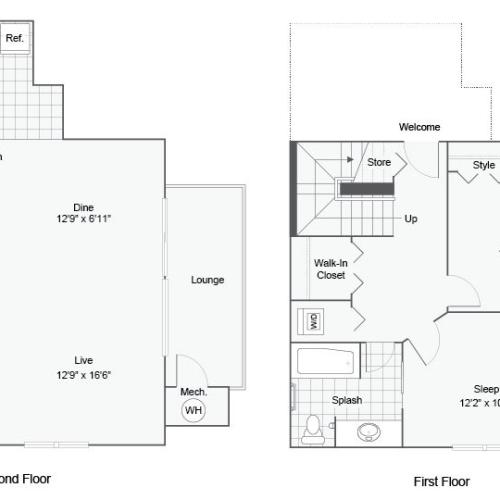 Floor Plan Images   ReNew Bayshore Townhomes