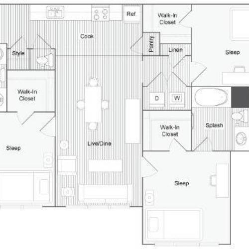 Floor Plan Images | The Social Blue