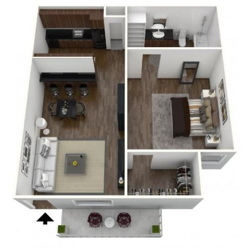 Fountains Apartments: 1 Bed / 1 Bath Apartment In Lubbock TX