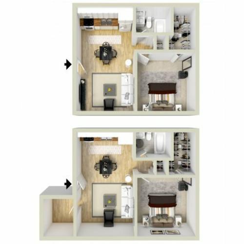 1 br, 1 bath studio apartment Virginia Beach, VA