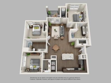 3 Bedroom Floor Plan | Infinity at Centerville Crossing