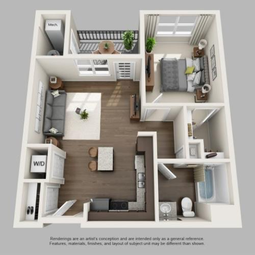 1 Bedroom Floor Plan | Infinity at Centerville Crossing2