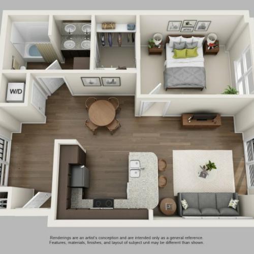 1 Bedroom Floor Plan | Infinity at Centerville Crossing3