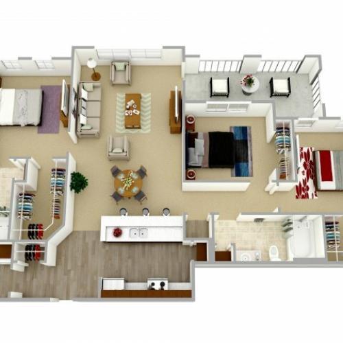 3 bedroom, 2 bathroom apartment Columbia, SC