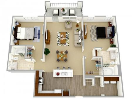 2 bedroom, 2 bathroom apartment Columbia, SC