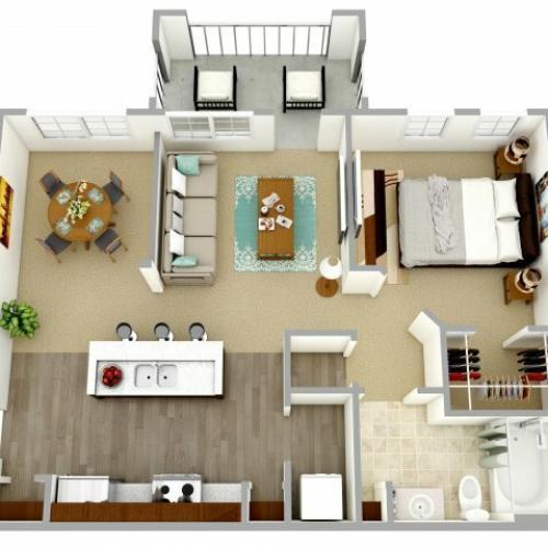 1 bedroom, 1 bath apartment for rent Columbia, SC