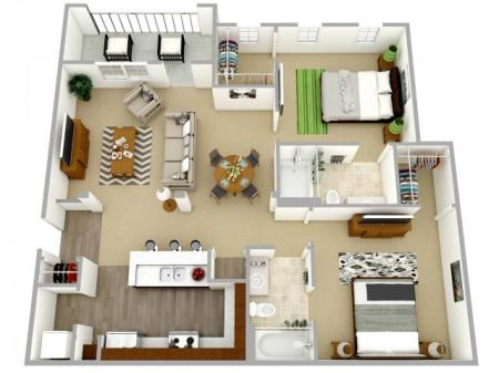 2 bedroom, 2 bath apartment for rent Columbia, SC