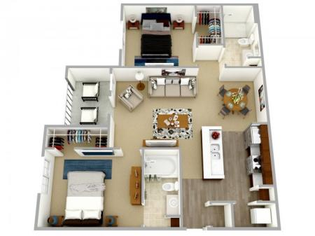 Two bedroom, two bath apartment for rent Columbia, SC