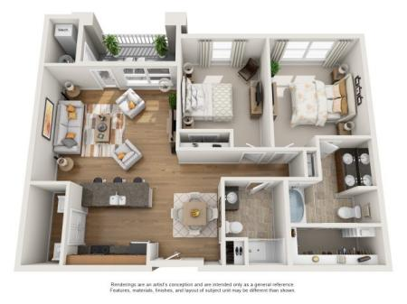2 br, 2 bath with balcony apartment for rent Williamsburg, VA
