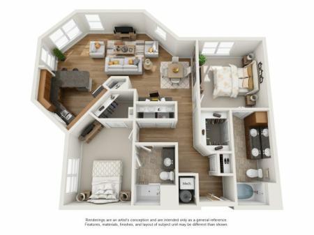 2 bedroom, 2 bathroom apartment for rent Williamsburg, VA