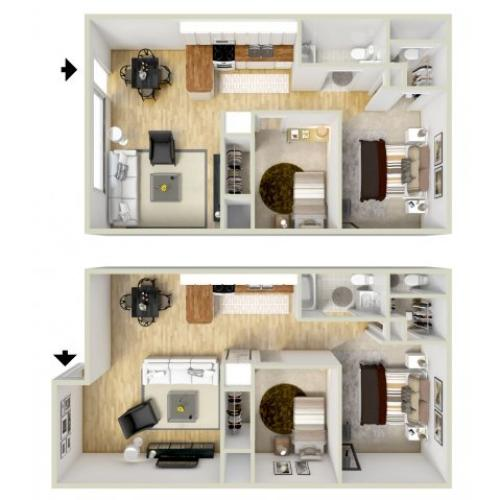 2 bedroom, 1.5 bath apartment Virginia Beach, VA
