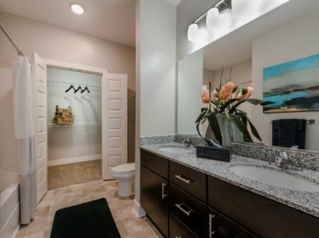 Elegant Master Bathroom   Infinity at Centerville Crossing