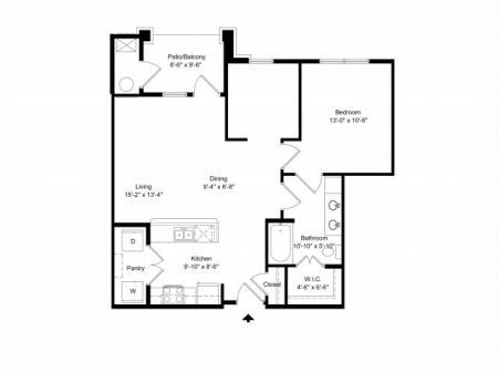 1 br, 1 bath apartment for rent Hampton, VA