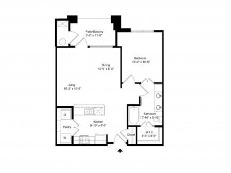 One bedroom apartment for rent Hampton, VA