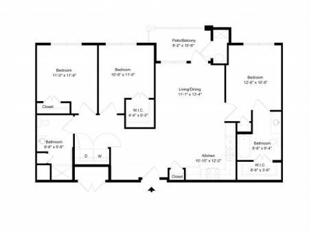 3 bedroom, 2 bathroom apartment for rent Hampton, VA
