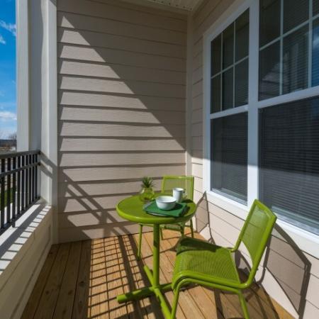 Beautiful Patio View | Pinnacle Apartments