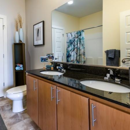 Luxury Master Bathroom | Pinnacle Apartments
