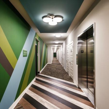 Vibrant Hallway | Pinnacle Apartments