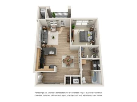 One bedroom, One bath apartment for rent Hampton, VA