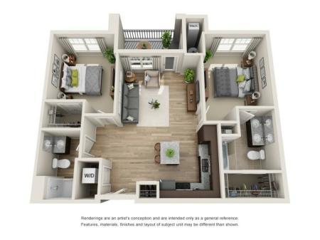 2 bedroom, 2 bathroom apartment Hampton, VA