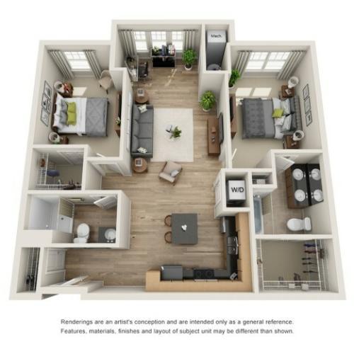 Two br, two bath apartment for rent Hampton, VA