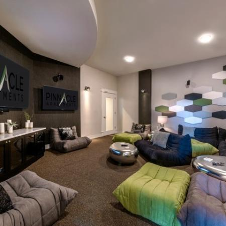 Relaxing Media Room | Pinnacle Apartments
