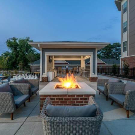 Heated Fire Pit | Pinnacle Apartments