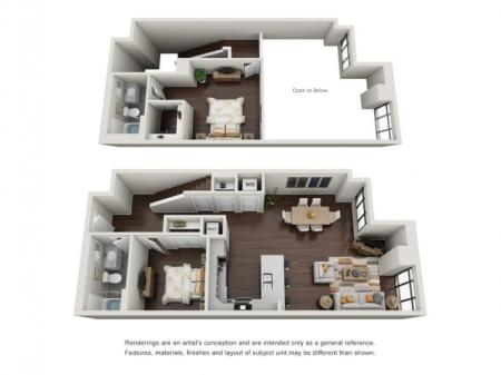 2 Bedroom with Loft | The Edge at 450