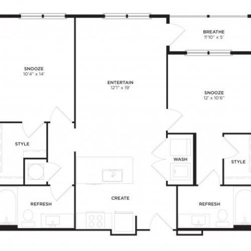 B1-ALT1 Floor Plan
