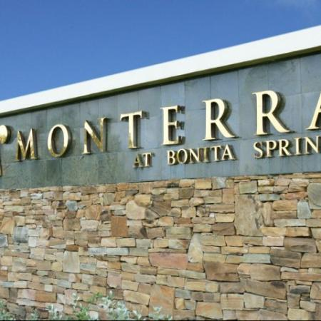 Entrance to Monterra at Bonita Springs apartment complex