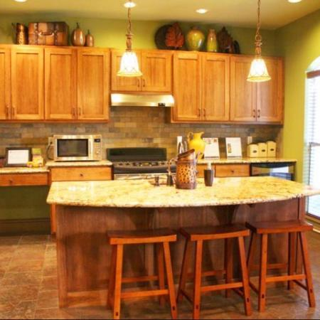 Apartment clubhouse kitchen | Northland at the Arboretum