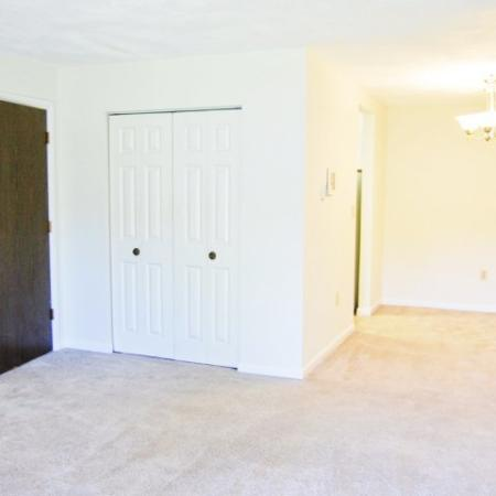 Living room with carpet flooring | Worcester MA rentals