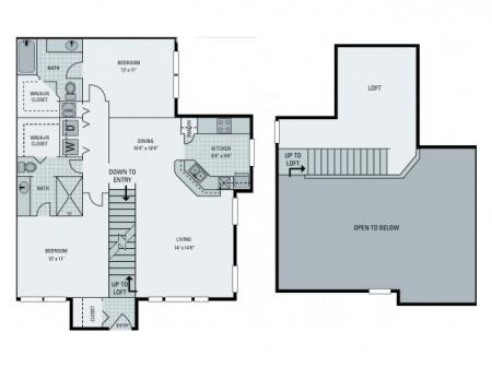 B3 Floorplan with Loft