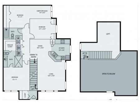 C3 Floorplan with Loft