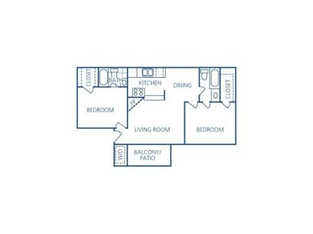 Two Bedroom Two Bath Flat