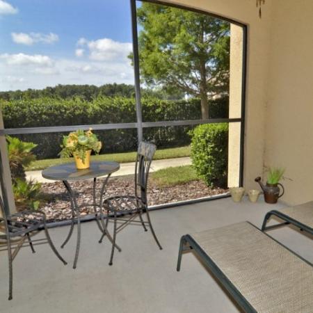 Ballantrae apartments | screened-in patio